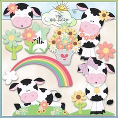Summer Cows 1 - NE Trina Clark Clip Art : Digi Web Studio, Clip Art, Printable Crafts & Digital Scrapbooking!