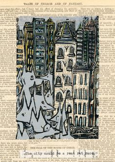 Lino cut, hand coloured by Shelley Savor