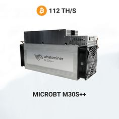 3190€ - Whatsminer M30S++ fromMicroBTminingBitcoin algorithmwith a hashrate of 112Th/s. Asic Bitcoin Miner, Mining Pool, Blockchain