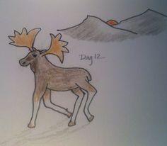 #Day12 - Moose sunbathing