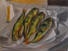 Peter Valve: Fish, still life oil painting
