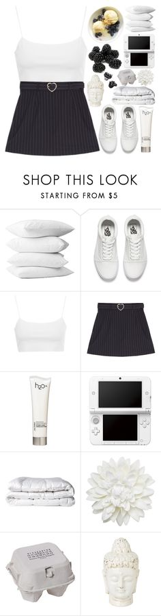 """""""i don't know if this song is about me or the devil"""" by sohoely ❤ liked on Polyvore featuring Vans, Topshop, H2O+, Nintendo, Brinkhaus, Monki, Maison Margiela and H&M"""