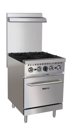"""Adcraft 24"""" Gas Range with 4 Burners (BDGR-24/NG)"""