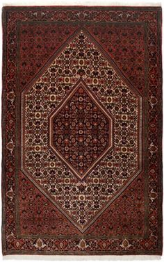 "Bidjar Rust Classic Medallion Carpet CS-M992057178 X 114 Cm. (5'9"" X 3'8"" Ft.) - Carpetsanta"