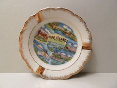Ashtray Souvenir, Vintage, 1000 Islands, New York by BjsDoDads on Etsy