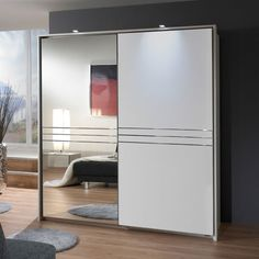 Medeira sliding wardrobe in alpine white with 1 mirrored door - 24701 find the perfect wardrobes for your home. Browse our huge range of bedroom furniture,. Bedroom Cupboard Designs, Wardrobe Design Bedroom, Bedroom Cupboards, Bedroom Furniture Design, Home Decor Bedroom, Door Furniture, Oak Bedroom, Furniture Stores, Furniture Websites