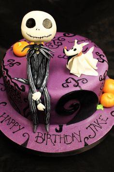 Nightmare Before Christmas Cake - Jack Skellington & Zedong amo este pastel :3