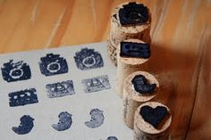 Another way to use printmaking... not so sure I could use wine corks in a classroom...