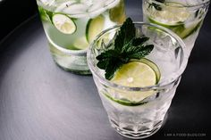 lemongrass mint spritzer recipe - http://www.iamafoodblog.com