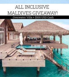 INTERNATIONAL TRAVEL GIVEAWAY!  Win a FREE 7 day/6 night luxury stay for two in Maldives! Spend 7 incredible days in an overwater villa at the 5 star Dusit Thani resort (Seaplane transfer and all meals included) PLUS receive $500 USD cash and $200 shopping spree from @zaful.   To enter: 1.Follow ALL accounts @theluxurygiveaways is following (including theirs) 2) LIKE this post 3)TAG a friend - multiple entries allowed one person per comment.   Giveaway is open worldwide! We will choose 5…