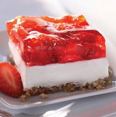 Strawberry Pretzel Salad is a classic picnic staple, isn't it? We think it would be good tailgating too - especially if your school colors are red and white! But that cream cheese layer can be tinted, if necessary.