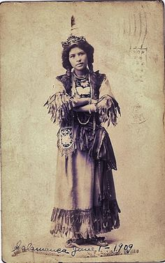 Ah-Weh-Eyu (aka Pretty Flower, aka Goldie Jamison-Conklin) the daughter of Jacob J. Jamison and Eliza D. Jamison, and the wife of Charles Conklin - Iroquois (Seneca) - 1909