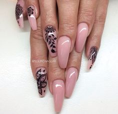 Coffin shaped nail design