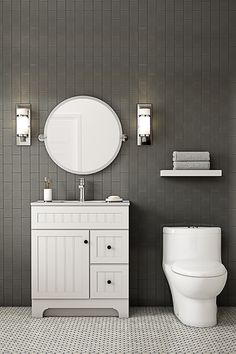 Cool neutral tones can give your bathroom a modern edge. Find more ways to love your bathroom at HomeDepot.ca. #LoveYourHome