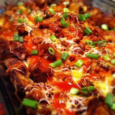 Lightened Up Buffalo Chicken and Potato Casserole (and several other light chicken casseroles... aka dinner next week)