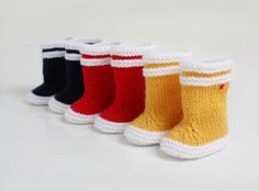 Cutie Booties | Little Gatherer  No pattern- these are for sale, but I would love to see a pattern!