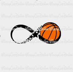 Infinity Basketball SVG, DXF, EPS, PNG Digital File – Wickedly Cute Designs