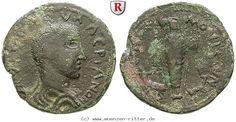 RITTER Kilikien, Anemurion, Valerianus I., Bronze, Artemis, Hirsch, Hund #coins
