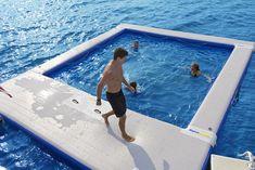 Floating Dock, Floating In Water, Jet Ski Dock, Family Pool, Boat Dock, Pontoon Boat, Paddle Boarding, Swimming Pools, Lap Pools