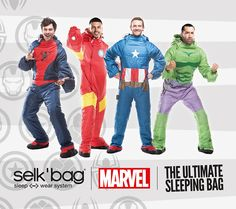Selk'bag, a wearable sleepwear system created by Rodrigo Alonso of Musuchouse in Chile, has released an amazing line of Marvel comic book superhero sleeping bags. The Spider-Man, Hulk, Captain Amer...
