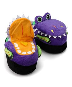 faafa170408 Look at this Silly Slippeez Purple Dizzy Dinosaur Slipper on  zulily today!  More Fun
