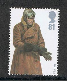 RAF 1918 World War Pilot IIllustrated on 2007 British Stamp - Mint NH