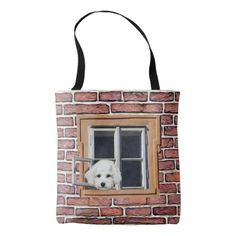 Funny Puppy and Kitty Staring out the Window Bag - cat cats kitten kitty pet love pussy