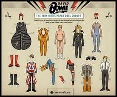 デヴィッド・ボウイの「着せ替え紙人形」を米サイトOpen Cultureが特集 - amass