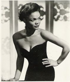 An exquisite shot of Eartha Kitt (aka Cat Woman in the 1960s TV show Batman) taken in the 1950s. Such a beauty.