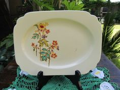 Homer Laughlin Plate Platter Century Columbine