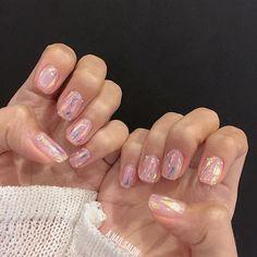 Cute Nail Art, Cute Nails, Pretty Nails, My Nails, Acrylic Nail Designs, Nail Art Designs, Soft Pink Nails, Korean Nails, Nail Effects