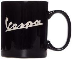 VESPA EMBOSSED LOGO MUG BLACK $10.00 #vespa #housewares #mug #coffee