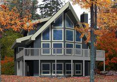 House Plans - Bonneville - Linwood homes A Frame House Plans, Cabin House Plans, Cabin Floor Plans, Modern House Plans, Small House Plans, Modern House Design, Linwood Homes, Bonneville, Cedar Homes