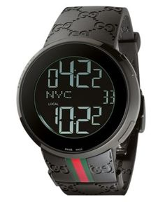 Gucci Watch, Men's I-Gucci Collection Black Rubber Strap 44mm YA114207 - Men's Watches - Jewelry & Watches - Macy's