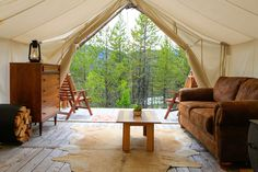 """With """"glamping,"""" or glamorous camping, spiking in popularity, a handful of companies offer luxury getaways at America's most celebrated playgrounds."""