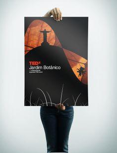 TEDX Jardim Botânico by Filipe Gropilo, via Behance