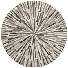 Grey cowskin 150cm diameter Contemporary round rugs - Quality from BoConcept