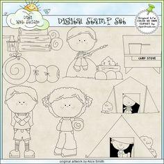 Little Campers 1 - Non-Exclusive Digi Stamps : Digi Web Studio, Clip Art, Printable Crafts & Digital Scrapbooking!