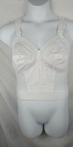 aca709a466545 Details about Exquisite Form Fully Long line Bra 38D Padded Straps Support  Girdle Plus New KM1