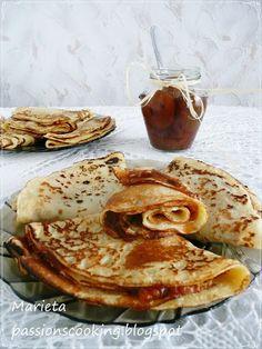 Блини Bulgarian Bread Recipe, Bulgarian Recipes, Bulgarian Food, Bulgarian Language, Bread Recipes, Pancakes, Salts, Breakfast, Sweet