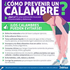 Cómo prevenir los calambres - Preventing the cramping https://www.facebook.com/pages/Questo-lo-riciclo-ti-Piace-LIdea/326266137471034