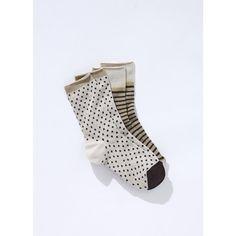 2 paires chaussettes femme à motif fantaisie fil brillant, E SOMEWHERE