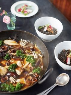 Miso Broth, Chicken, Mushrooms & Rice | Chicken Recipes | Jamie Oliver