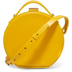 Nico Giani Tunilla mini leather shoulder bag ($505) ❤ liked on Polyvore featuring bags, handbags, shoulder bags, nico giani, yellow, mini handbags, yellow purse, leather shoulder bag, leather purses and yellow handbags