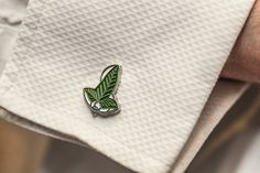 LOTR Leaf of Lorien Cuff Links Middle Earth The by ArdaArts-For a more subtle LOTR touch