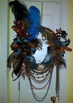 Elegant Gasparilla Wreath by WenchesandWreaths on Etsy, $120.00