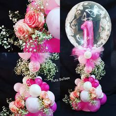 Pastel Balloons, Balloons And More, Bubble Balloons, Balloon Flowers, Helium Balloons, Balloon Bouquet, Balloon Decorations Without Helium, Birthday Balloon Decorations, Birthday Balloons