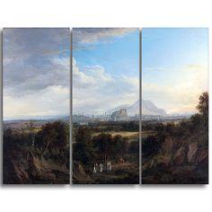 Design Art 'Alexander Nasmyth - A View of Edinburgh' 3-panel Art Print - 36x28-inch