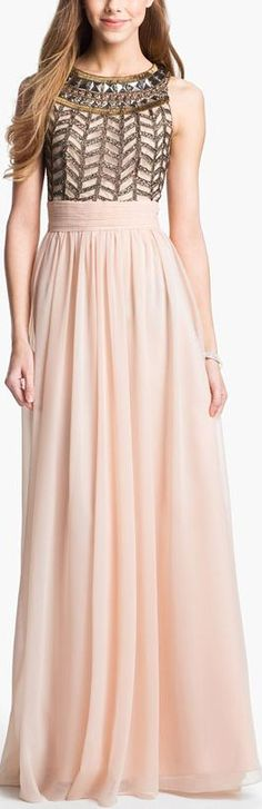 Blush beauty with embellished bodice