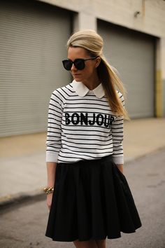channeling parisian style + black and white for spring